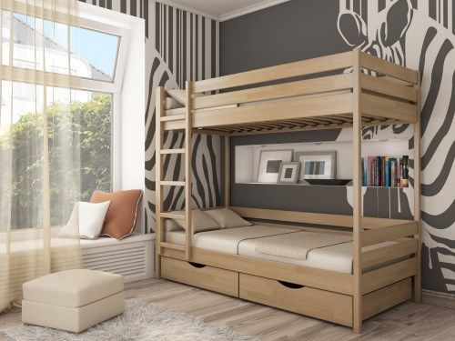 Кровать двухъярусная классика из массива