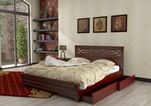 Кровать Италия 110 из массива