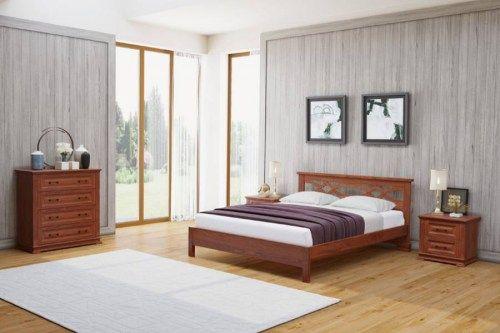 Кровать Лира из массива