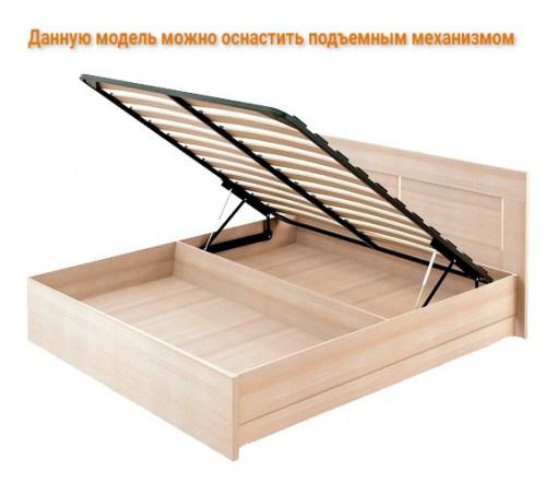 Кровать Омега прямая с мягкой вставкой из массива