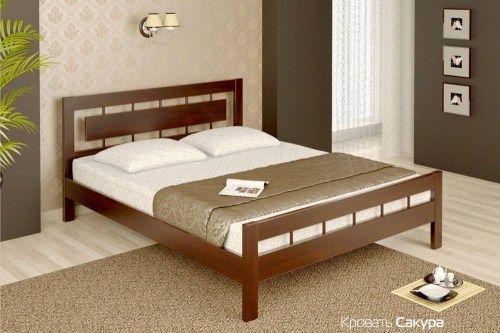 Кровать Сакура из массива