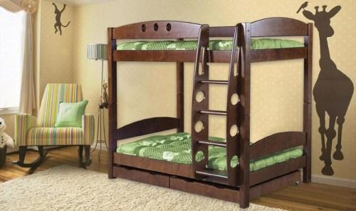 Кровать Жираф из массива