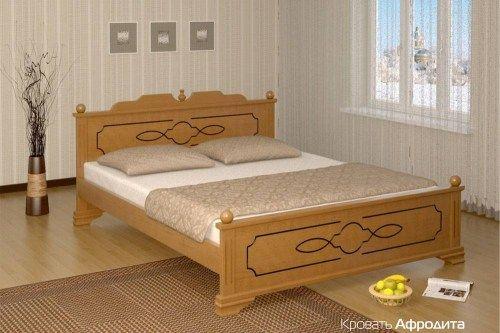 Кровать Афродита из массива