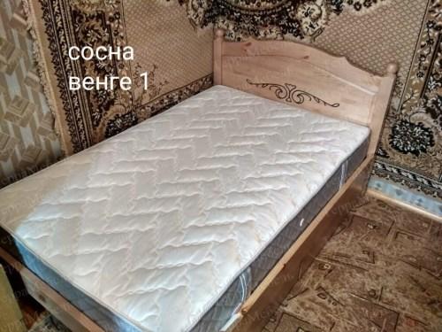 Кровать Филёнка с рисунком из массива