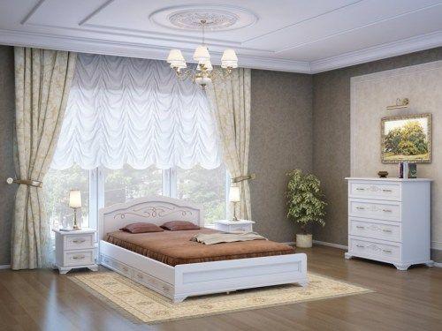 Спальня Токата с ящиками из массива