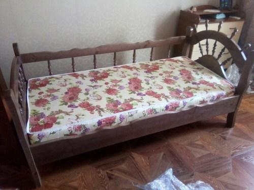 Кровать Адмирал с 3-мя спинками из массива