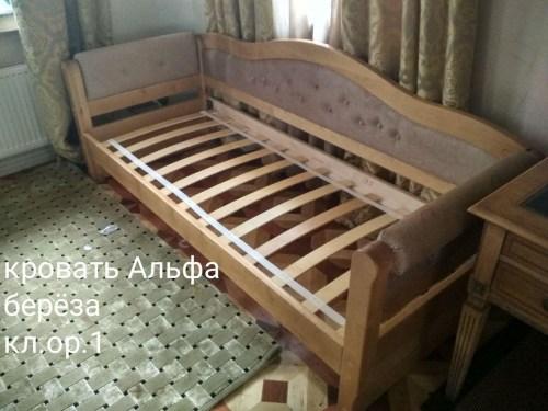 Кровать Альфа из массива