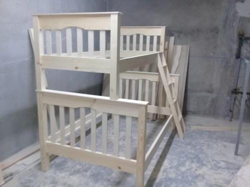Кровать двухуровневая КД-901 из массива