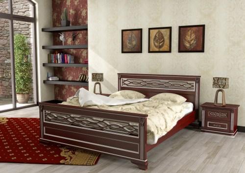 Кровать Италия 115 из массива