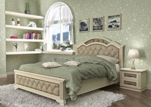 Кровать Лаура 120 из массива
