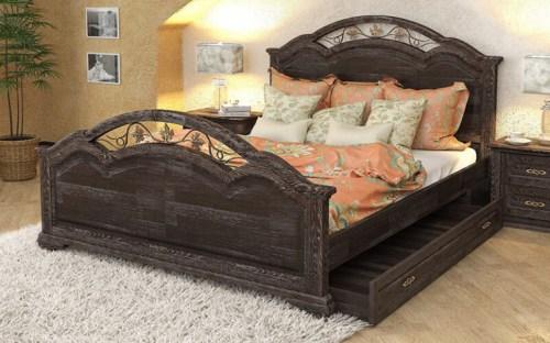 Кровать Лаура 130 из массива