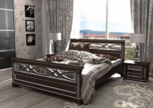 Кровать Лирона 120 из массива
