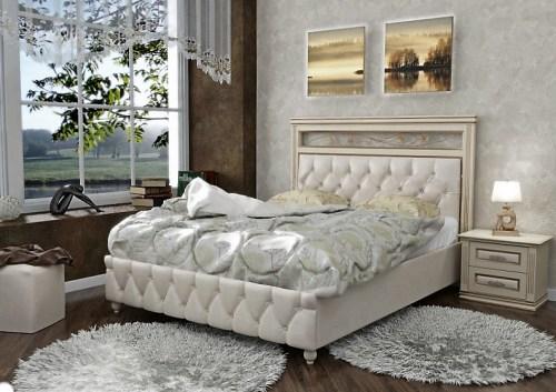 Кровать Лирона 210 из массива