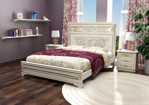 Кровать Лирона 310 из массива