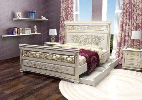 Кровать Лирона 330 из массива