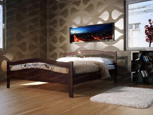 Кровать ТЕРРА МК - 107 из массива