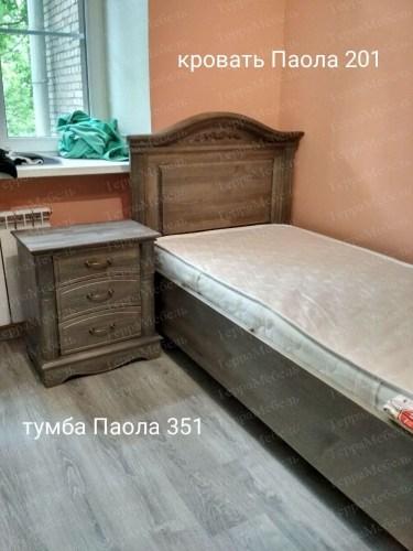 Кровать Паола 201 из массива