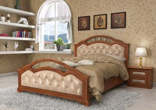 Кровать Лаура 140 из массива