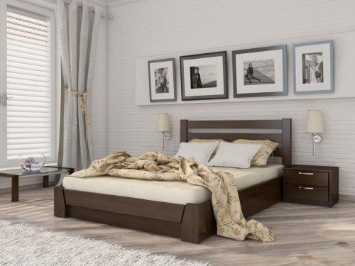 Кровать Селена прямая из массива
