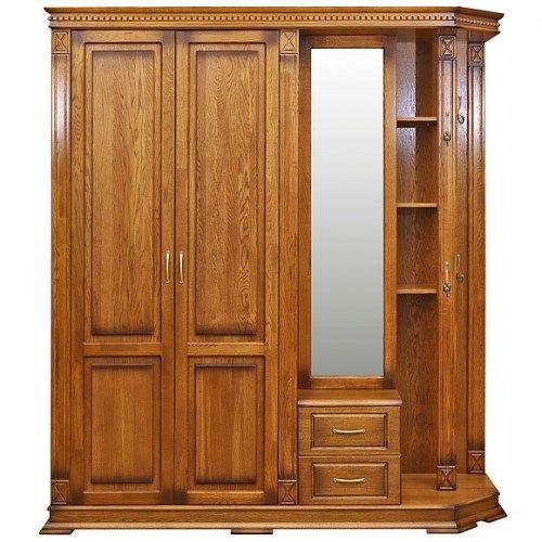 Шкаф угловой для прихожей из массива