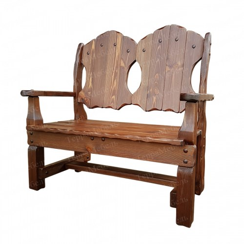 Кресло - скамья Добряк 1 из массива