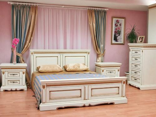 Спальня Милана 1 из массива